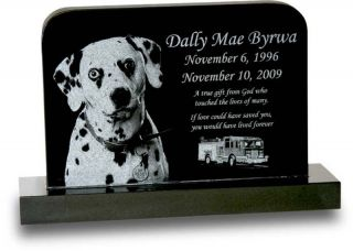 Standard Upright Pet Headstone Large Grave Marker for Dogs Cats