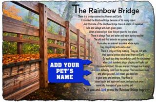 Rainbow Bridge Memorial Pet Stone Plaque