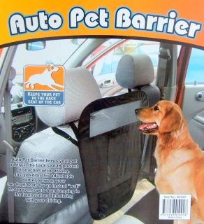 New Auto Car Pet Dog Barrier Driver Safety Device Blocks Access to Front Seat