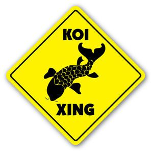Koi Crossing Sign Xing Gift Japanese Gold Fish Pond Food Supplies Feed
