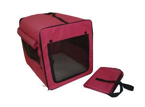 Dog Cat Pet Bed House Soft Carrier Crate Cage w Case Mr