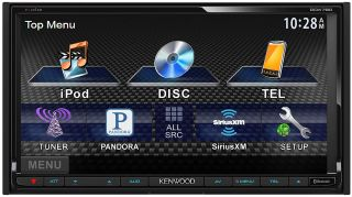 "Kenwood Double DIN Car DVD CD Receiver w 6 95"" Monitor Bluetooth New DDX790"