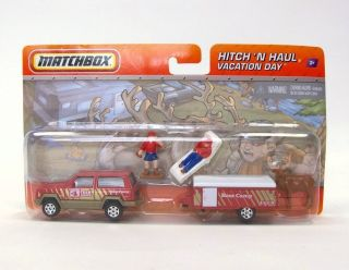 Matchbox Hitch Haul Vacation Day Base Camp New Jeep Cherokee Pop Up camper Elk