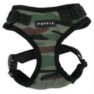 Combat Rite Fit Puppia Dog Harness Adjustable Neck Chest Green Camouflage