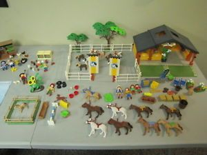 Huge Lot Playmobil Horse Shetland Pony Ranch Hen Chicken House Rabbit Hutch Farm