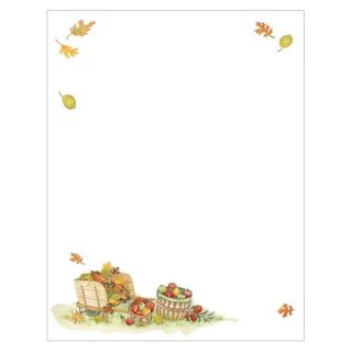Harvest Apples Border Thanksgiving Fall Autumn Stationery Printer Paper