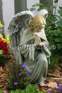 "Kneeling 12"" Praying Angel Garden Statue Pet Person Cat Dog Memorial Nice"