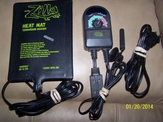 Zilla Temperature Controller 1000 Watt Plus Reptile Heat Mat Pad Small 10 20 Gal