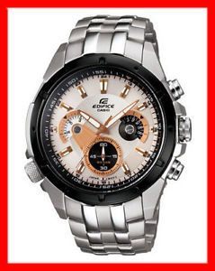 Casio EF 535SP 7AV1 EF 535 EF535SP7AV1 Edifice White Dial Chronograph Mens Watch
