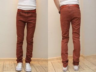 Mens Slim Fit Casual Pants Skinny Stretch Pencil Jeans Trousers H993 W28 W34