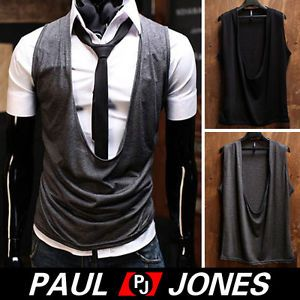 Fashion Men Casual Slim Sexy Style Open Vest Waistcoat Sleeveless Coats Jackets
