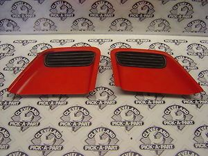 93 97 Pontiac Firebird Trans Am Red LH RH Hood Scoops