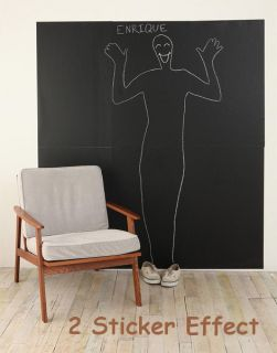 60×200CM Blackboard Removable Vinyl Wall Sticker Chalkboard Decal Chalk Board AU