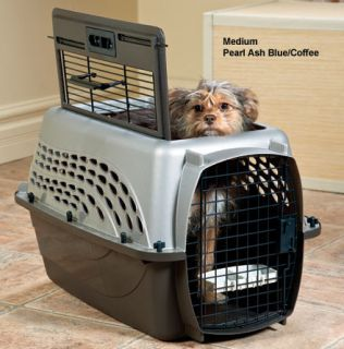New Pet Carrier Two Door Top Load Dog and Small Animal Kennel Medium 71477