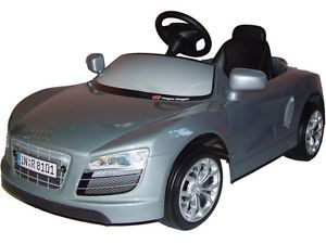 New Silver Audi Kids Battery Powered Childrens Electric Ride on Sports Car Toy