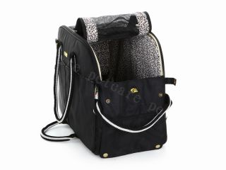 Durable Black Petcare Small Dog Cat Pet Carrier Tote Outdoor Travel Bag Handbag