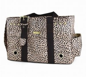 New Petcare Leopard Print Pet Dog Cat Bag Carrier Small 40x15x25cm