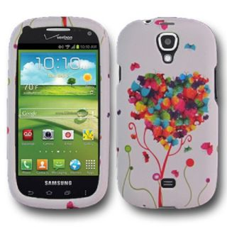 Love Heart Rubberized Design Cover Hard Case Samsung Galaxy Stratosphere 2 II