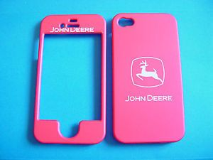 John Deere Pink iPhone 4 4G 4S Cell Phone Faceplate Case Cover Snap On