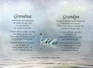 Grandma Grandpa Personalized Grandparent Poems Anniversary or Christmas Gift