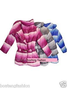 Girls Waterproof Jacket Kids Fur Lined Top Childrens Clothing Coat School Winter