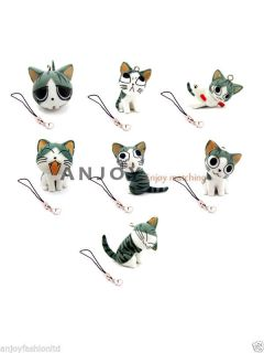 Lovely Cute Kitty Cat Mobile Cell Phone Accessories Keyring Keychain Strap