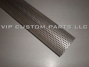 2 5in 409 Stainless Steel Perforated Exhaust Tube 1 Foot