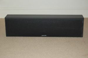 Polk Audio CS350 LS Black Two Way Center Channel Home Theater Speaker