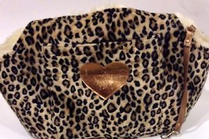 Lu Lu Pink Small Pet Dog Carrier Leopard Print Faux Fur