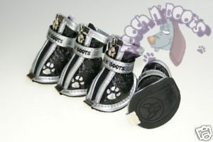 Pooch Boots Black Dog Shoes Boot Size 3 M Schnauzers
