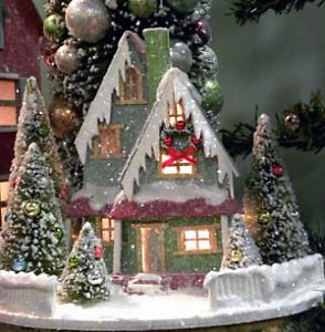 Traditional House Vintage Style Christmas Winter Village Lights Up KD Vintage