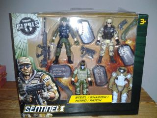 Sentinel 1 True Heros 4 Action Figures Steel Shadow Nitro Patch