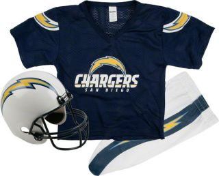 San Diego Chargers Kids Youth Football Helmet Uniform Set