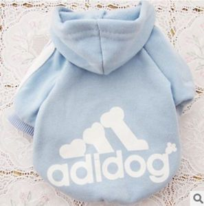 Small Dog Puppy Pet Hoodie Outfit Blue Sweater Apparel Clothes Free Shipsize XS