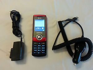 Samsung SGH A777 Red Unlocked Slider Cellular Phone w Home A C Charger