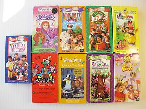Wee Sing VHS Movie Lot Vintage Kids Sing Along Video Childrens Classic RARE