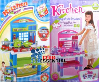 Children's Kids Boys Girls Kitchen Time Fun Play Learning Cooking Set Toys