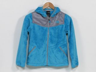 The North Face Girls' Oso Hoodie Jacket in Turquoise Blue
