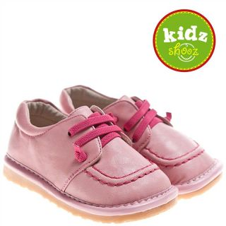 Girls Kids Toddler Infant Childrens Leather Squeaky Shoes Kickers Style Pink