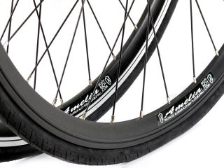 Eighthinch Amelia Track Fixed Gear Wheel Wheelset Black Machined Sidewall Front