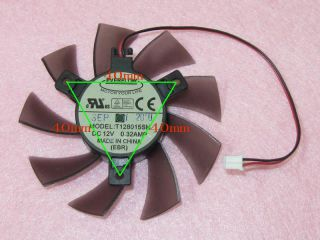 75mm ATI Radeon 5770 Video Card Cooler Fan Replacement 40mm 2pin T128015SH 0 32A