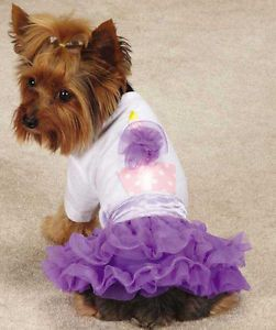 X Small Chihuahua Yorkie Toy Poodle Dog Dress Skirt Shirt Zack Zoey Clothes Cute