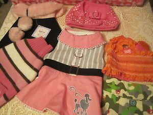 Pink Poodle Peace Camouflage Dog Dress Harness Dog Clothes Apparel Small Lot