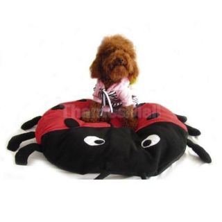 Pet Cat Dog Ladybug Beetle Shap Bed Crate Pad Mat Soft Indoor Cushion 03995
