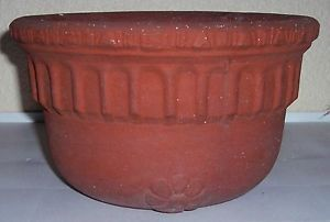 Bauer Pottery Early Red Clay Hanging Basket