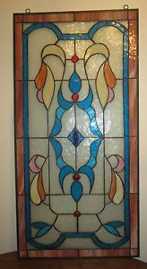 Antique Art Deco Stained Glass Window
