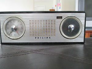 Vintage Art Deco Phillips Alarm Clock Radio