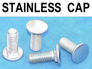 ★ Vintage Stainless Steel Cap Bumper Bolts Carriage Bolt for Truck Car ★
