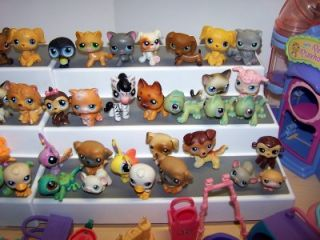 Huge Littlest Pet Shop LPS Lot 4 Dollhouses 61 Pets Loving Playhouse Accessories