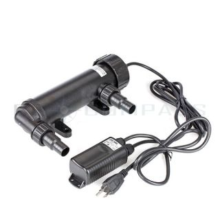 9W UV Sterilizer Light Clarifier Aquarium Pond Koi Tank Lamp Ultraviolet Filter